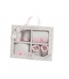 Gamberritos - Pack patucos, manoplas, gorrito y babero para bebé