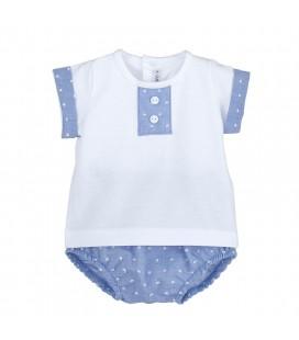 Calamaro Baby - Conjunto pololo Baratti azul para bebé
