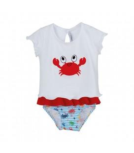 Calamaro Baby - Conjunto baño Cangrejo rojo para bebé