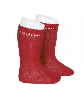 Cóndor - Calcetines altos perlé - Rojo