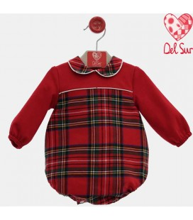 Del Sur - Pelele rojo para bebé familia Onix