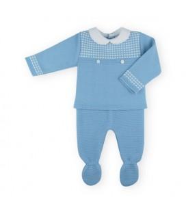 SARDON - Conjunto punto bebé Kike azulado