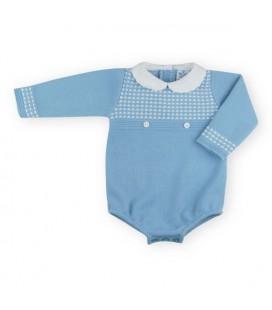 SARDON - Pelele ranita bebé Kike azulado