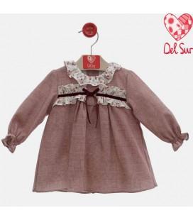 Del Sur - Vestido bebé Granate