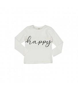 Trybeyond - Camiseta beige Happy para niña
