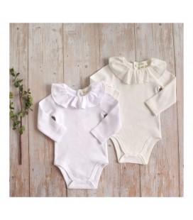 Dadati - Conjunto 2 bodys con cuello volante para bebé