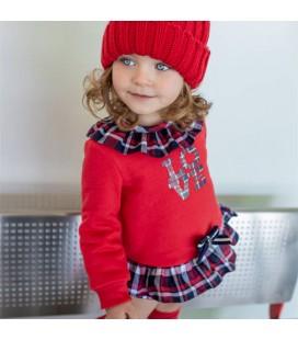 Vera by Nekenia - Conjunto rojo para bebé niña