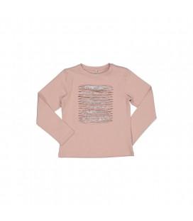 Trybeyond - Camiseta rosa empolvado para niña