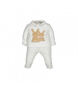 Birba - Conjunto beige para bebé