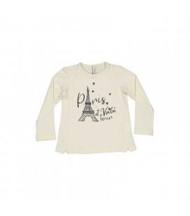 Birba - Camiseta beige Paris para bebé
