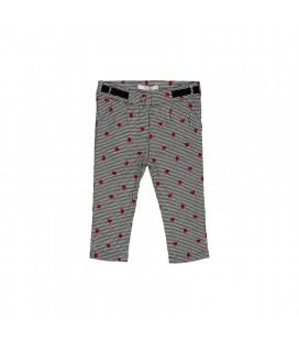 Birba - Pantalones pata de gallo y corazones para bebé