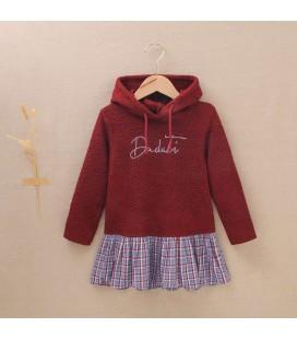 Dadati - Vestido guinda colección Ruby para niña