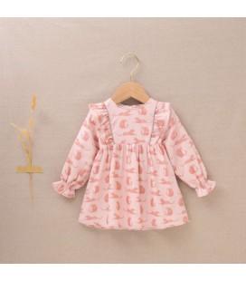 Dadati - Vestido rosa colección Leopardo para bebé