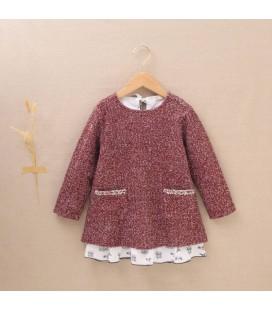 Dadati - Vestido Ruby granate para niña