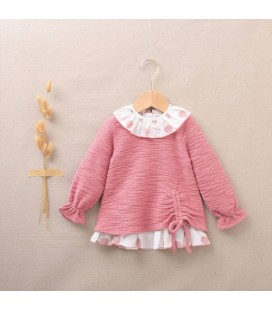 Dadati - Vestido rosa para bebé