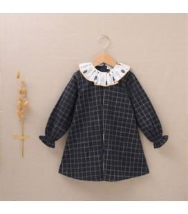 Dadati - Vestido gris para niña colección Tempestad