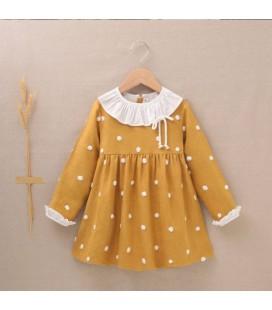 Dadati - Vestido mostaza para niña