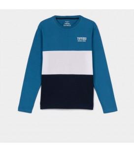 Tiffosi - Camiseta Edo azul para niño