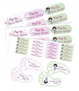 Pack etiquetas multiusos personalizadas