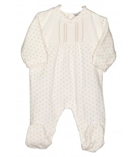 Pelele pijama beige Bimota celeste para bebé de Calamaro