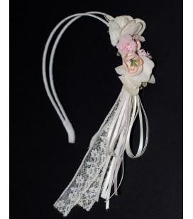 Diadema D87 con flores para primera comunión