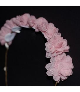 Corona flores rosa para niña de Siena