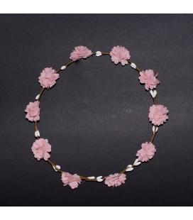 Corona rosa para niña de Siena