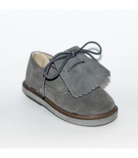 Zapato para niño serraje gris