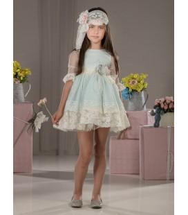 Vestido beige de ceremonia para niña de Marla