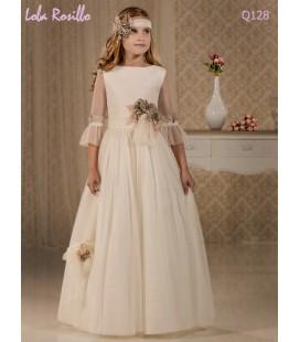 Vestido primera comunión de Lola Rosillo Q128
