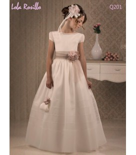 Vestido primera comunión de Lola Rosillo Q201