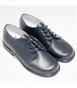 León Shoes - Zapato niño fino azul marino