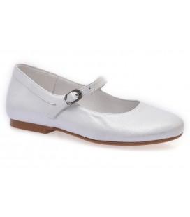 Zapato primera comunión para niña roseta gris