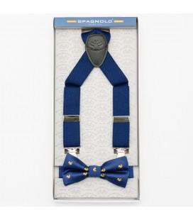 Set tirantes y pajarita azul marino con patitos de Spagnolo