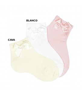 Calcetines cortos con lazo de Cóndor - Blanco