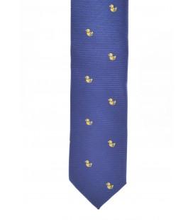 Corbata azul marino con patitos para niño de Spagnolo
