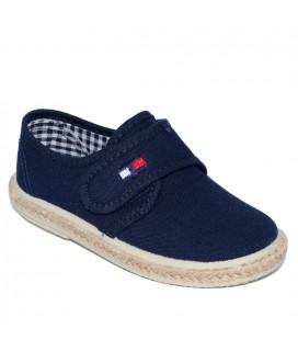 Zapato piqué marino para niño de Vul-Peques