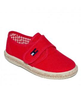 Zapato piqué rojo para niño de Vul-Peques