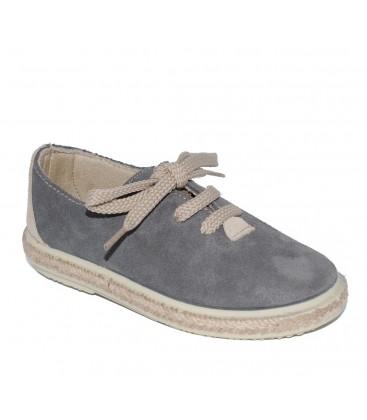 1457019fd Zapato serraje gris para niño de Vul-Peques - Adriels Moda Infantil