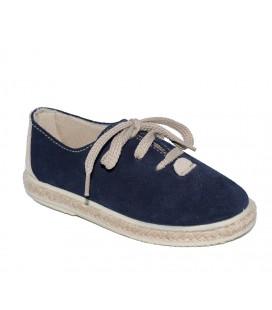 Zapato serraje azul marino para niño de Vul-Peques
