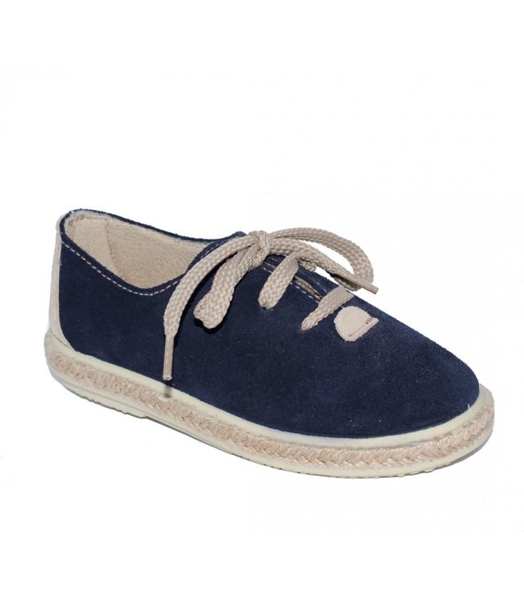 581edafeddc Zapato serraje azul marino para niño de Vul-Peques - Adriels Moda ...