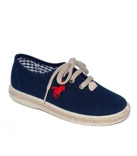 Zapato piqué marino para niña de Vul-Peques