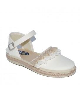 Sandalia para niña piqué beige de Vul-Peques