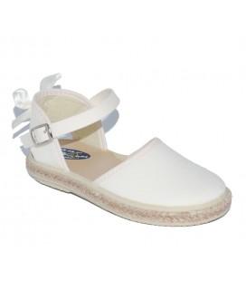 Sandalia para niña piqué crudo de Vul-Peques