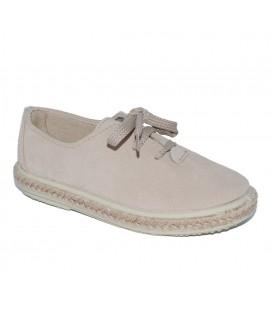 Zapato serraje arena para niño de Vul-Peques