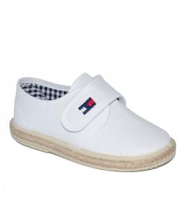 Zapato piqué blanco para niño de Vul-Peques