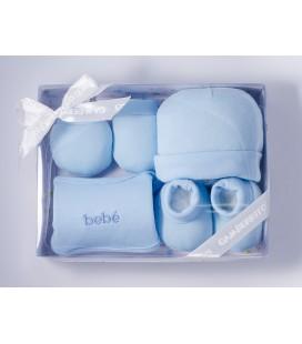 Juego canastilla para bebé 4 piezas - Azul