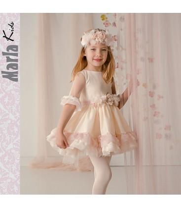 3bc7c1256 Vestido de ceremonia para niña de Marla - M008