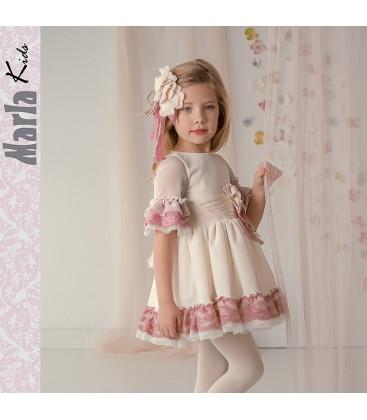 7cb70d9ec Vestido de ceremonia para niña de Marla - M011