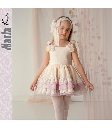 Vestido de ceremonia para niña de Marla - M012